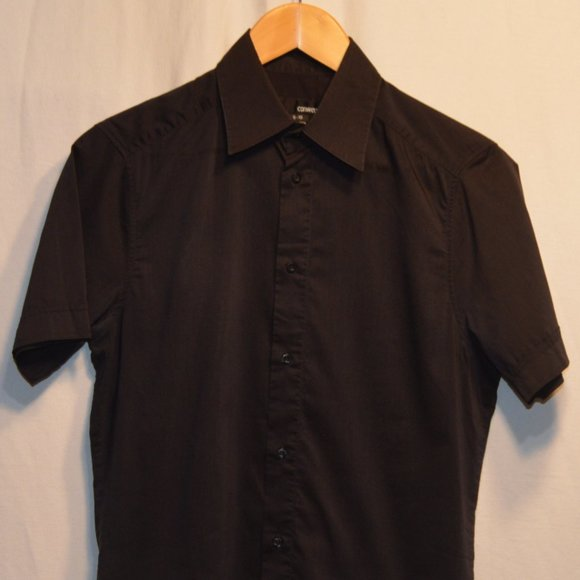 H&M Other - H&M Black fitted Short Sleeve Button Dwn shirt